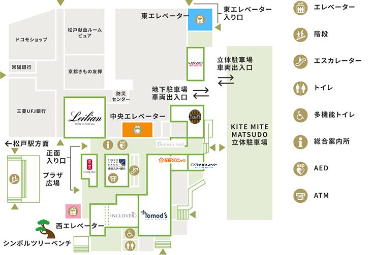 1Fの地図