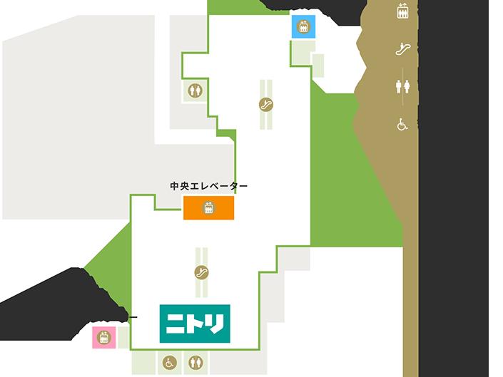 4Fの地図